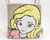 Fabric Storage Basket in a Cartoon Style for little Girls