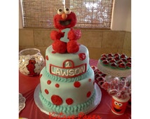 Elmo Birthday Cake Edible Image : Popular items for edible cake toppers on Etsy