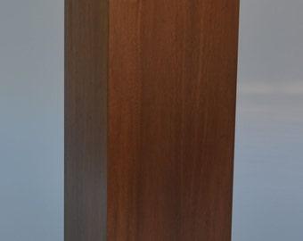 Pedestal Black Walnut