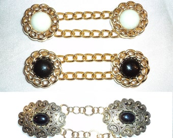 Custom Cape Cloak Chain Closure Clasp Medieval Renaissance choose your color
