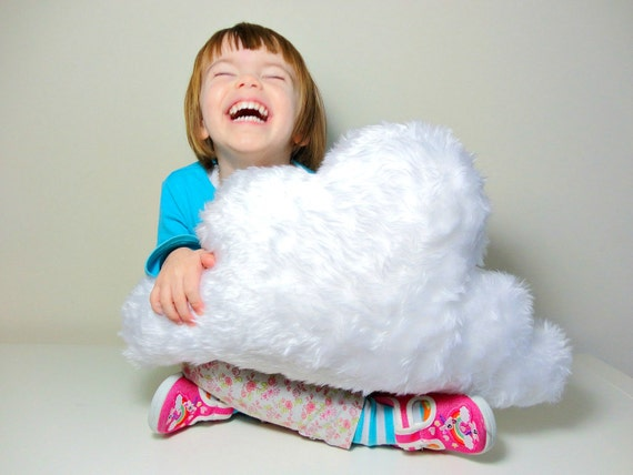 Items Similar To Fluffy White Cloud Pillow Cushion Rain