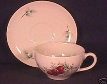 Syracuse Carefree Wayside Pattern Cup and Saucer