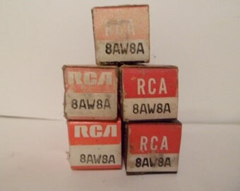 NOS Group of Five RCA 8AW8 Tested Radio Tubes