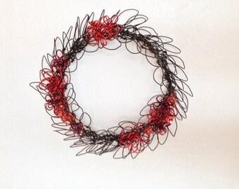 Rustic Valentine Wreath mix metals