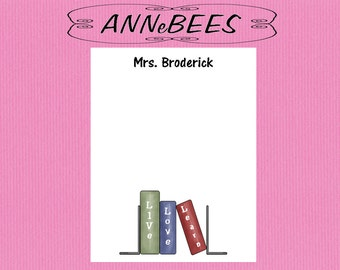 Personalized Teacher note pad