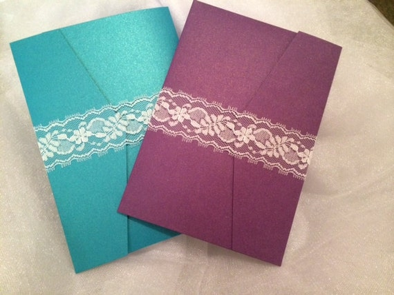 lace ribbon belly bands diy wedding invitation enchant it With wedding invitation ribbon belly band diy