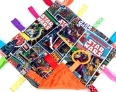 Star Wars Baby Ribbon Sensory Blankie - Crinkle Toy - Star Wars Minky Blanket