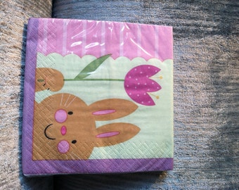 Bunny's Day Out Paper Napkins - NOS - Set of 18