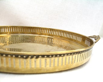 Round Brass Tray Brass Tray With Handles Brass Made In