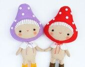 PDF pattern - Toadstool pixie - Felt softie, hand sewing DIY project, easy sewing pattern, pocket toy