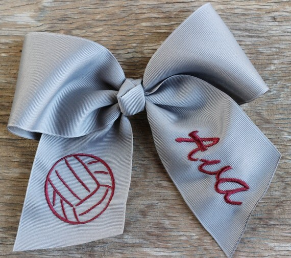 Name Bow Volleyball Name Volleyball Bows Team Bows