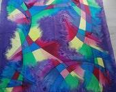 Quartett purple created by Barbara Parth  -scarf, silk, unique, handpainted, wall, decoration