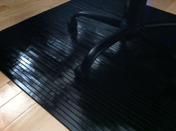 items similar to black obsidian bamboo chair mat office