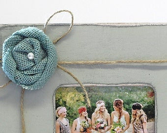 ADD ON Jute Bow w/ Teal Flower