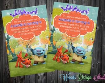 Custom Wallykazam Birthday Party Invitations - DIY Printable File
