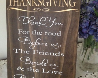Thanksgiving Family Wooden Sign- Holiday- Home Decor HD-7 by Sweet Carolina Collective