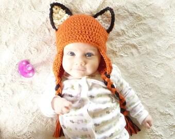 Ear Flap Baby Hat CROCHET PATTERN Hat with Ear Flaps Baby Boy Hat Earflap Beanie Children Earflap Hat Baby Boy Pattern Fox Beanie Foxes Hat
