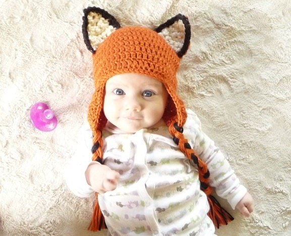 Newborn Crochet Hat Pattern With Ear Flaps : Ear Flap Baby Hat CROCHET PATTERN Hat with Ear Flaps Baby Boy