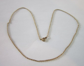 Vintage Gold Plated 18 inch Chain necklace