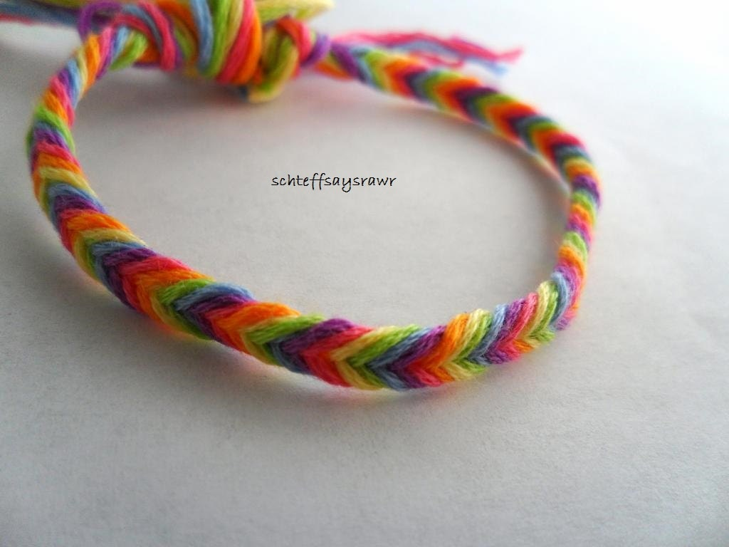 Rainbow fishtail friendship bracelet by Schteffsaysrawr on ...