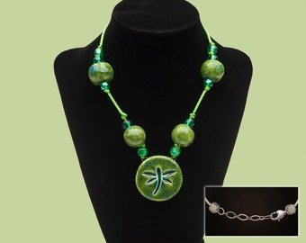Green firefly pendant
