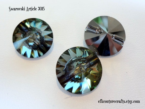 Swarovski crystal rivoli buttons in crystal by - Swarovski crystal buttons ...