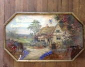 God Bless Our Home Jesus Plaque Diorama