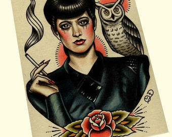 Rachael (Blade Runner) Tattoo Art Print
