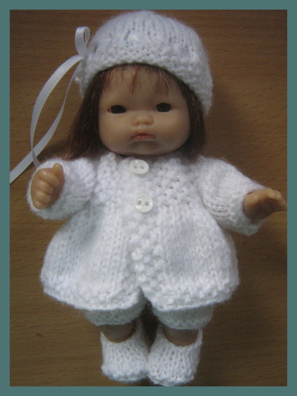 Knitting Pattern for 5 Berenguer Dolls Clothes