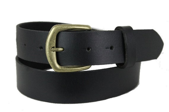 mens handmade black blank genuine leather belt for by
