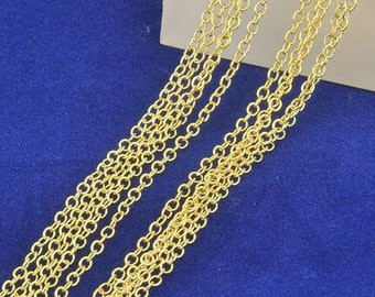 """10pcs 26"""" 1.3MM gold filled chains Fashion Accessories Necklaces rolo Chain Necklace"""