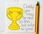Greeting Card - First Father's Day Card - Birthday Card - New Daddy card