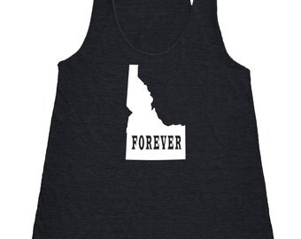Womens Idaho Forever Tank Top - American Apparel Tri Blend Racerback Tank - XS S M L