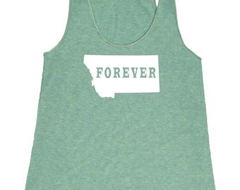 Montana Forever Tank Top. Women's Tri Blend Racerback Tank Top SEEMBO