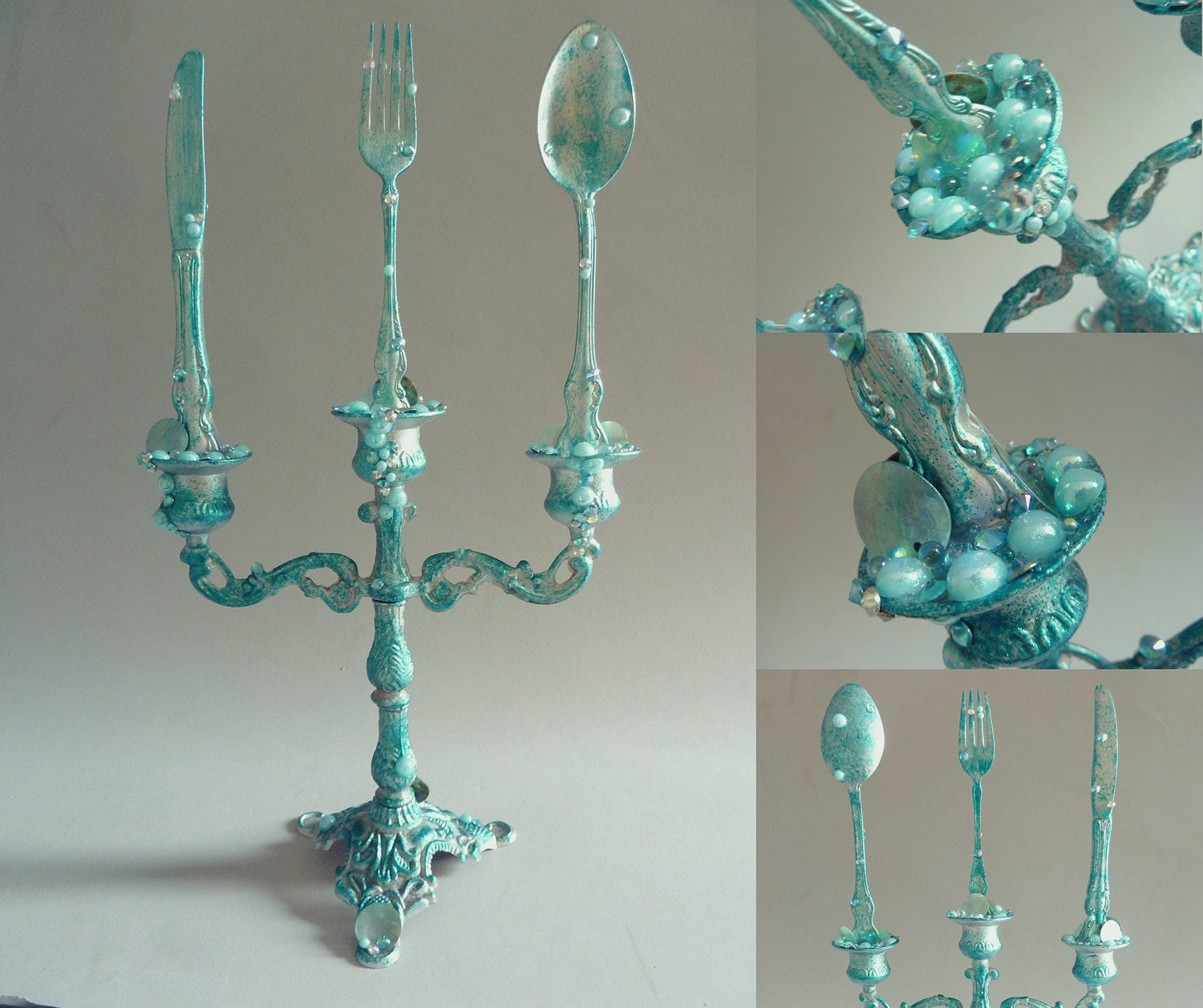 Diy Candelabra: The Little Mermaid Candelabra With Dinglehopper