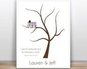Modern Ketubah Tree of Life - Wedding - Printable - Custom color, text and size available
