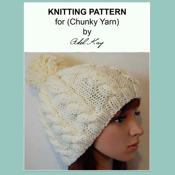 Knitting Pattern PDF Document Andrea Bobble Beanie Twisted