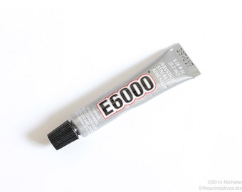 E6000® Jewelry Adhesive - 5.3mL/0.18 fl oz Tube - Professional Craft Glue - Permanent Bond - Industrial Strength Adhesive - Ships from USA