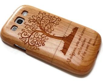 Samsung Galaxy S3  case - wooden S3 case walnut / cherry or bamboo -  Tree