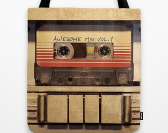 Guardians of the Galaxy Awesome Mix Vol 1 Tote Bag, Guardians of the Galaxy Bag