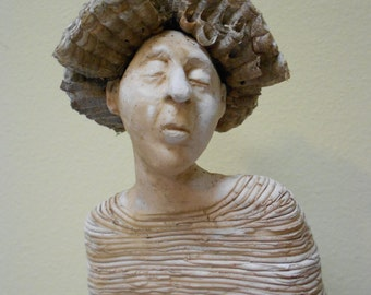 The Aging Queen: A one of a kind handmade stoneware sculpture