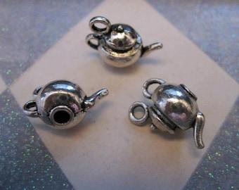Pot Belly Teapot Charm! 4Pcs  (C154)