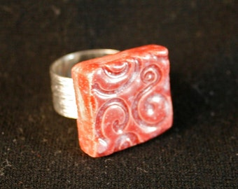 Strawberry Sundae Ceramic Ring