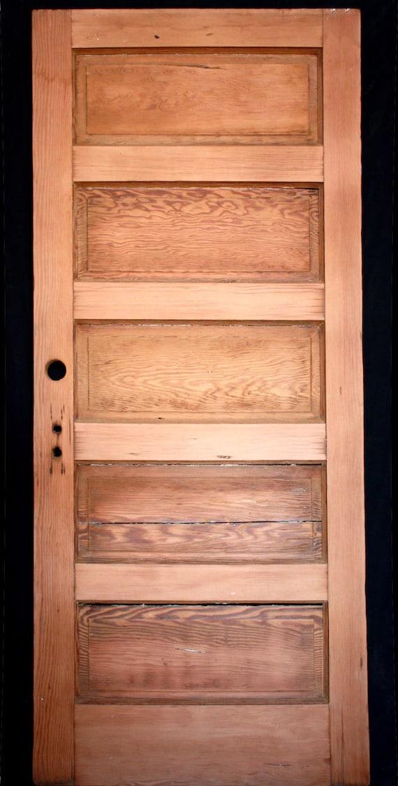 34x79 Antique Stripped Fir Wood Interior Door