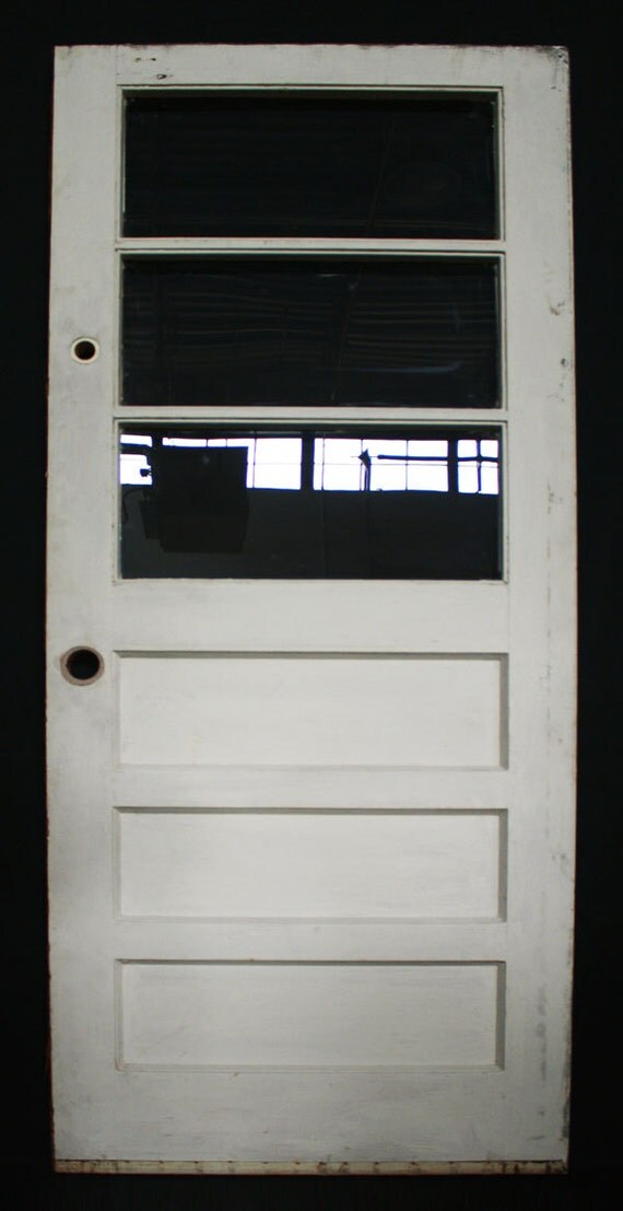 32x77 vintage exterior solid wood entry door for Vintage solid wood doors