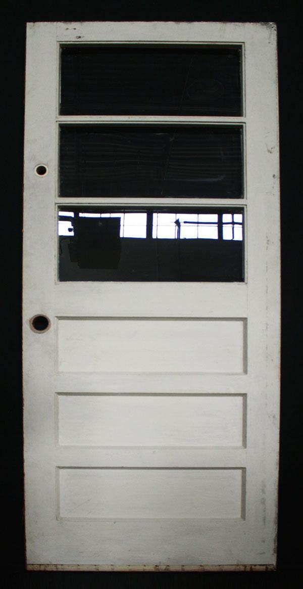 32x77 Vintage Exterior Solid Wood Entry Door