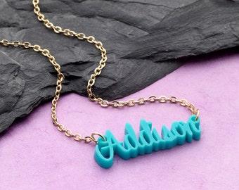 Name acrylic necklaces
