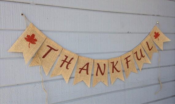 Seasonal Burlap Banner Thanksgiving Garland Holiday Bunting