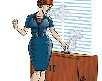 Mad Men Joan Holloway Print of Original Artwork
