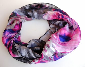 Purple Scarf Women Infinity Scarf Chiffon Scarf Shawl Scarf Circle Scarves Womens Fashion Accessories Valentines Day Gifts For Her